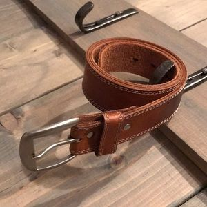 Wilson's leather distressed belt/silver buckle
